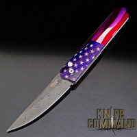 Boker Pro-Tech Burnley Nichols Virus Damascus Kwaiken Automatic Knife American Flag PROTOTYPE