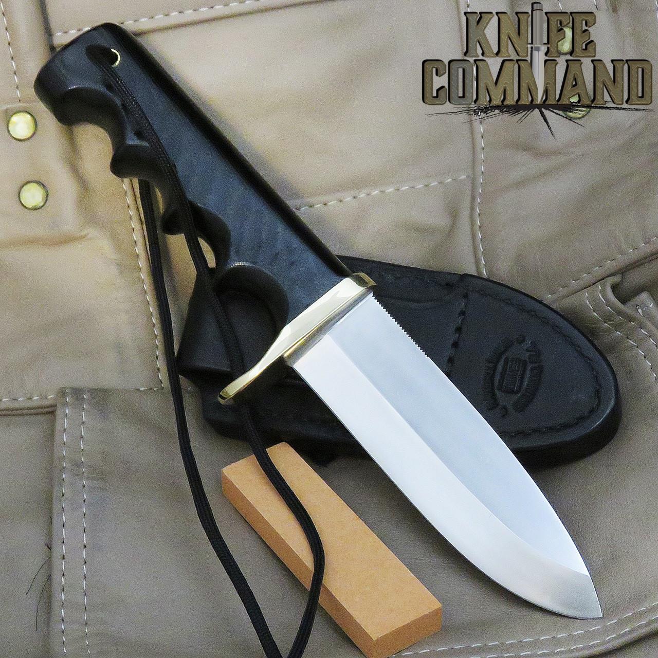 Randall Made Knives Non-Catalog Fireman Special Knife Black Micarta, Black Sheath