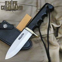 Randall Made Knives Non-Catalog Fireman Special Knife Black Micarta, Black Sheath