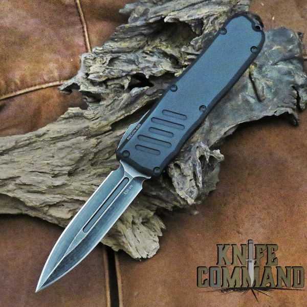 Guardian Tactical Recon-035 Double Edge OTF Automatic Knife Black Stonewash 93631