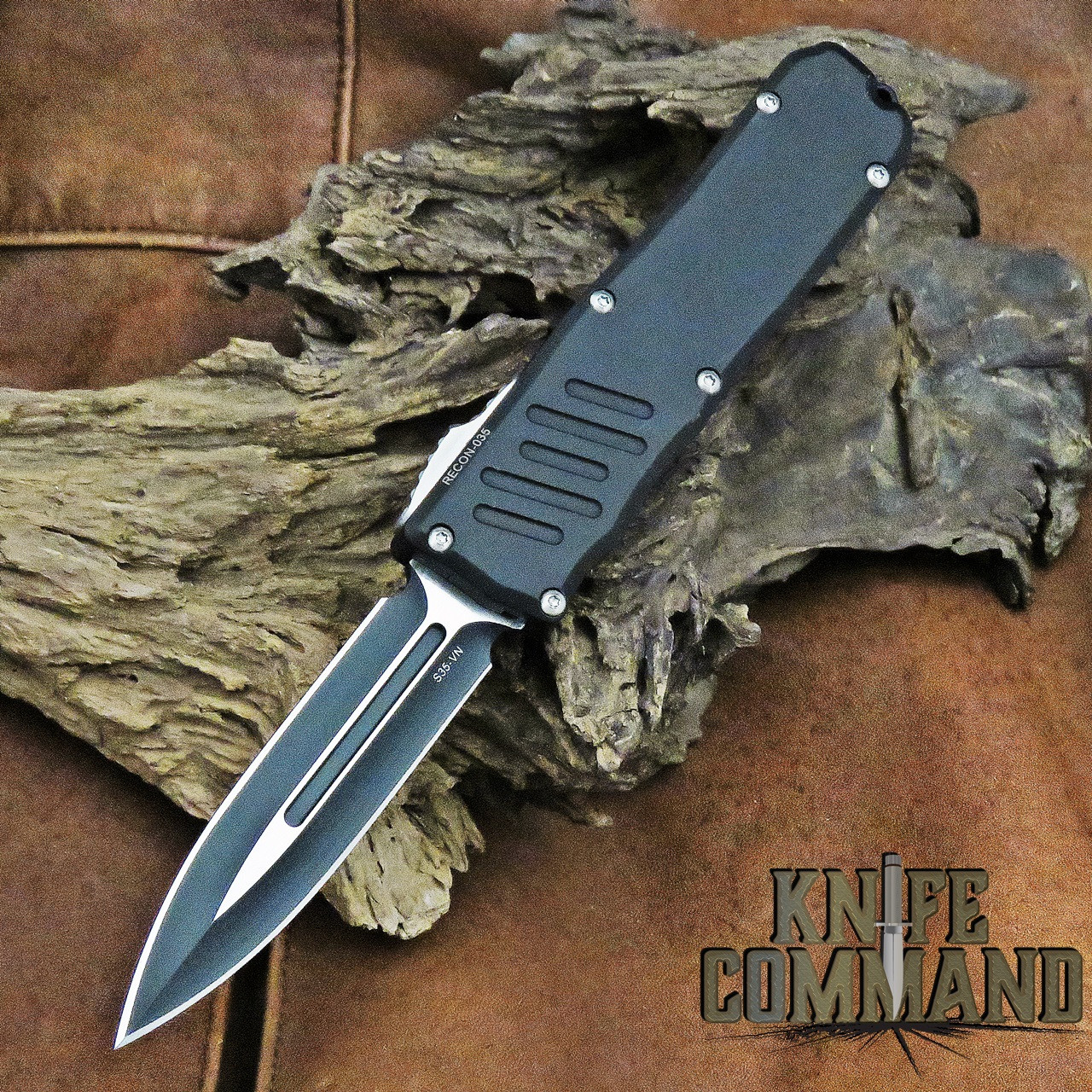 Guardian Tactical Recon-035 Double Edge OTF Automatic Knife Two Tone 93231