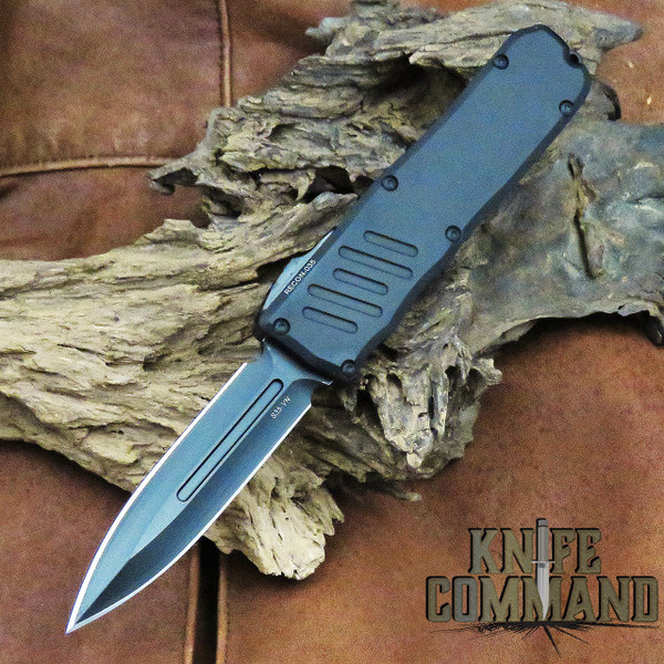 Guardian Tactical Recon-035 Double Edge OTF Automatic Knife Blackout 93131