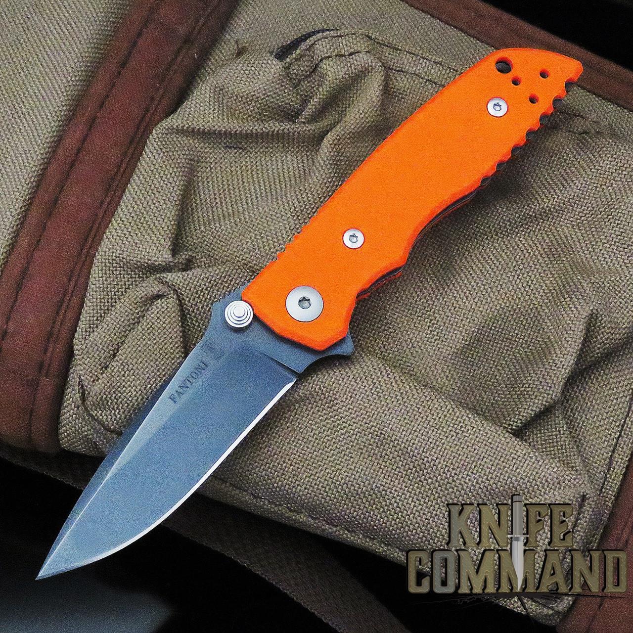 Fantoni HB 03 William Harsey Combat Folder Tactical Knife Blaze Orange S35VN Black PVD