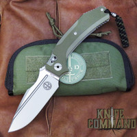 Pohl Force 1083 Force One Hunter Niolox Folding Knife Green G-10