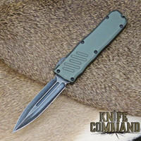 Guardian Tactical Recon-035 Double Edge OTF Automatic Knife OD Green and Dark Stonewash 98631