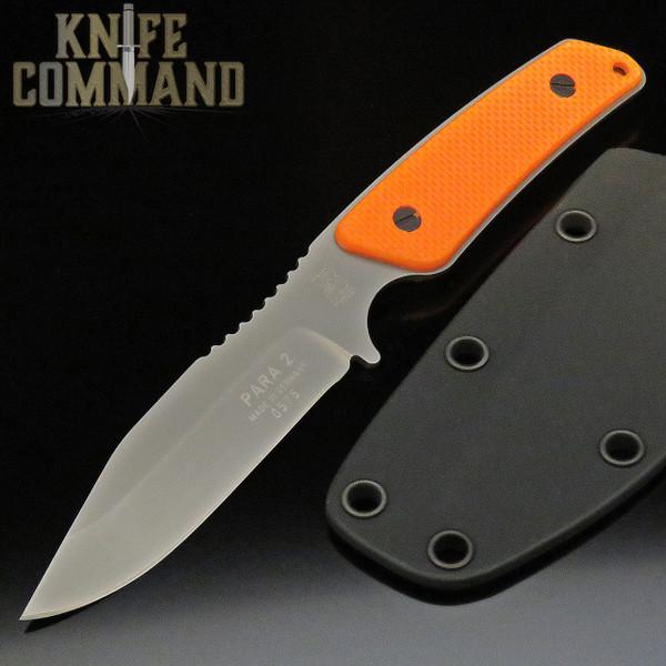 Eickhorn Solingen Para-2 Neck / Boot Knife Blaze Orange G-10 Handles (EICK8252440)