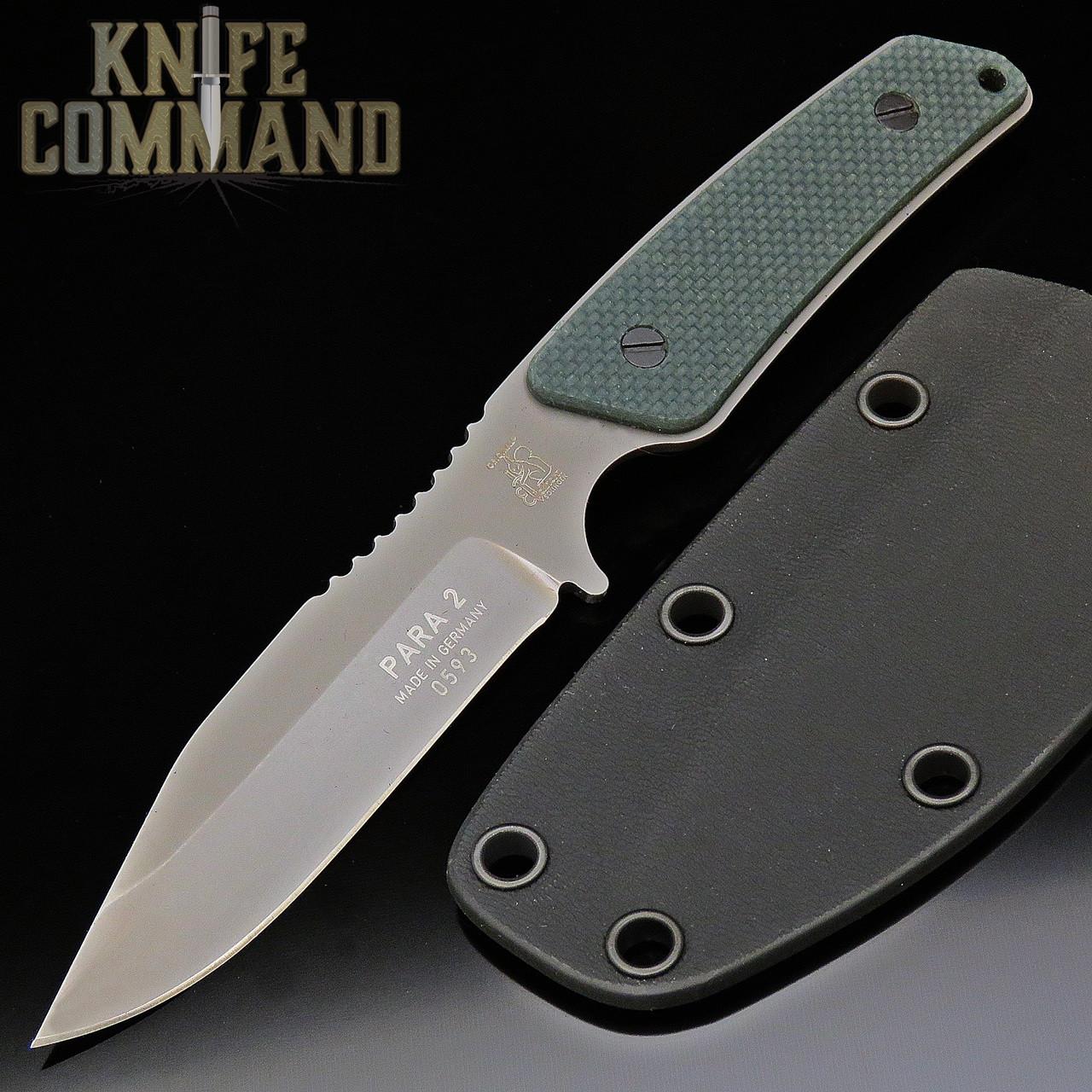 Eickhorn Solingen Para-2 Neck / Boot Knife Green G-10 Handles (EICK825244G)