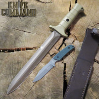 Eickhorn Solingen Waidbesteck Boar Hunter Para 2 GS 2-Knife Set 825252WBOGPG Beryllium Blade Grey Green Handle