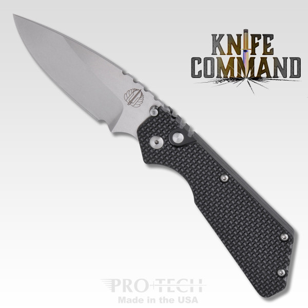 Pro-Tech Knives 2305 Pro-Strider PT Automatic Knife Folder Knurled Handle 154-CM Blade