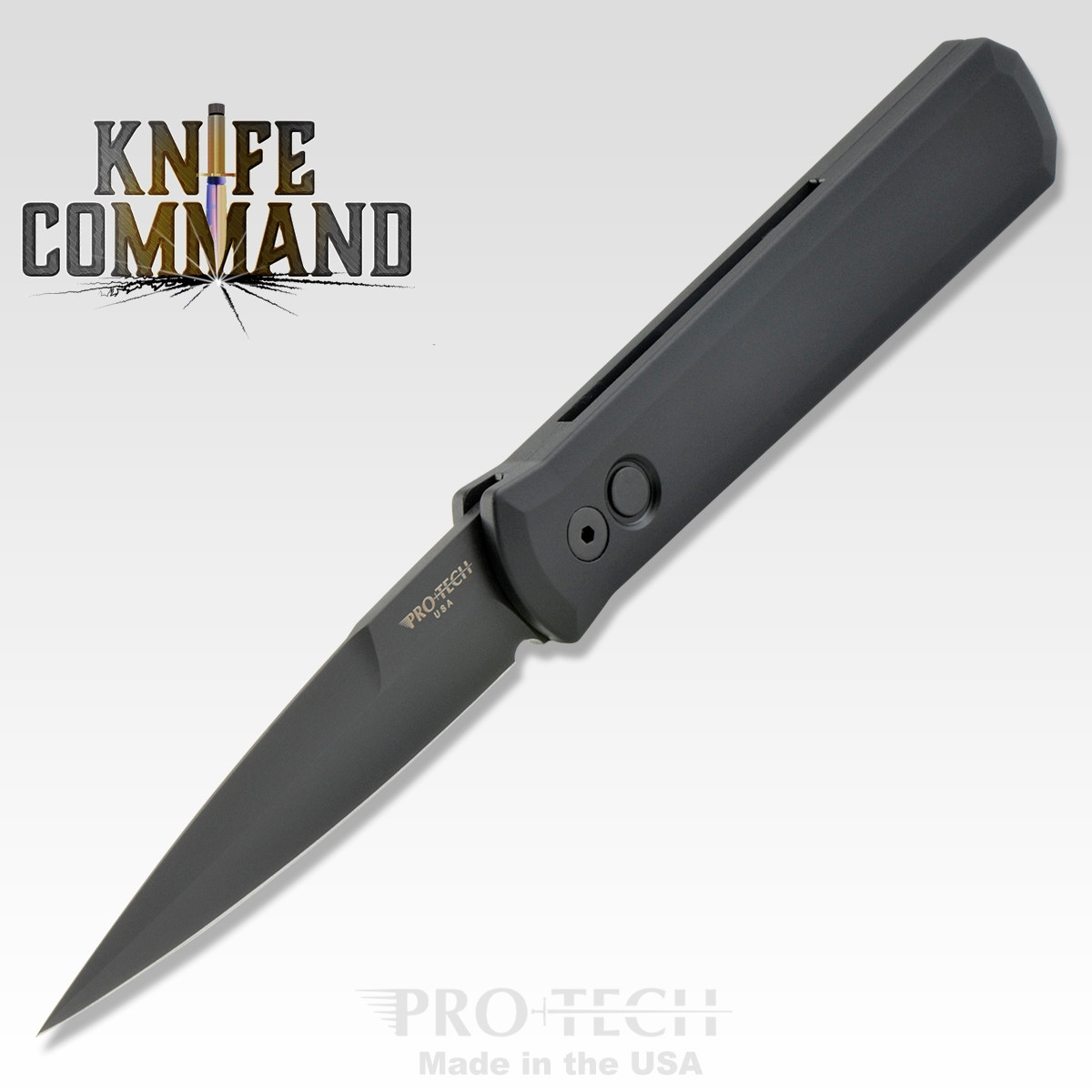 "Pro-Tech Knives Godfather 921-SWAT Automatic Knife Police Law Enforcement Folder 4"" Black DLC Blade"