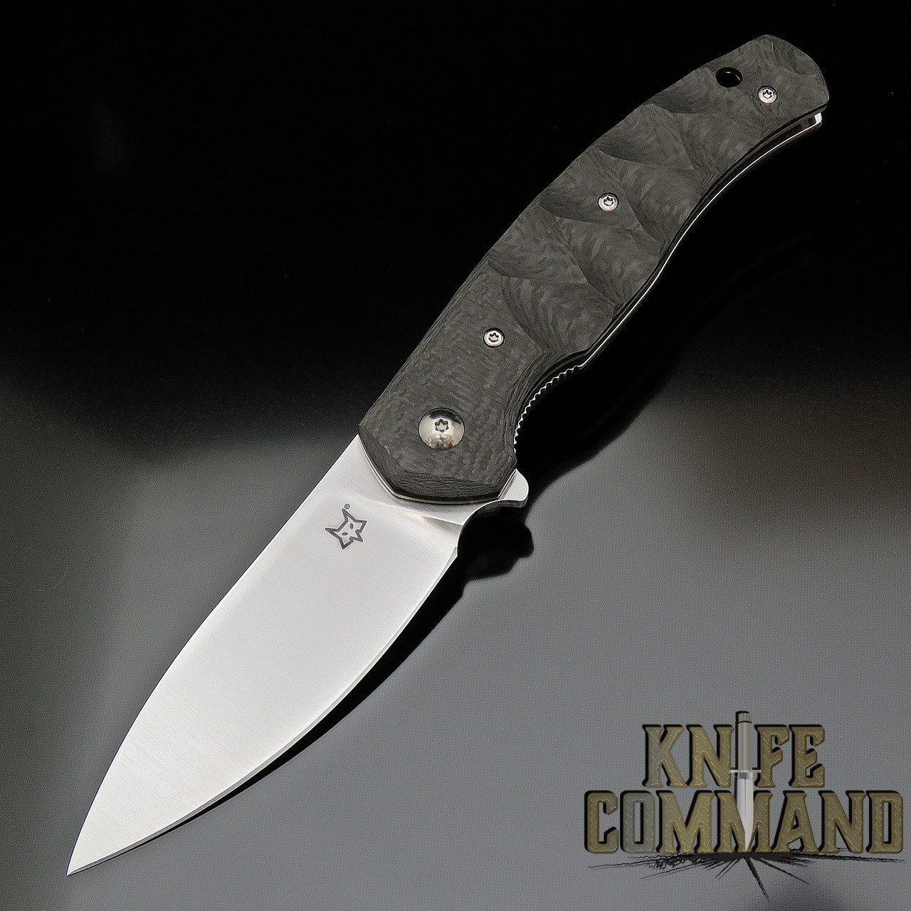 Fox Knives Jens Anso Ziggy Carbon Fiber Flipper Pocket Knife FX-308 CF
