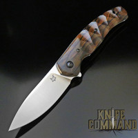 Fox Knives Jens Anso Ziggy Ziricote Wood Flipper Pocket Knife FX-308 ZW