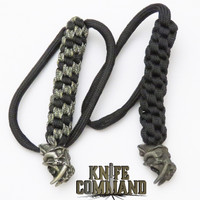 Schmuckatelli Sabertooth Skull Knife Lanyard