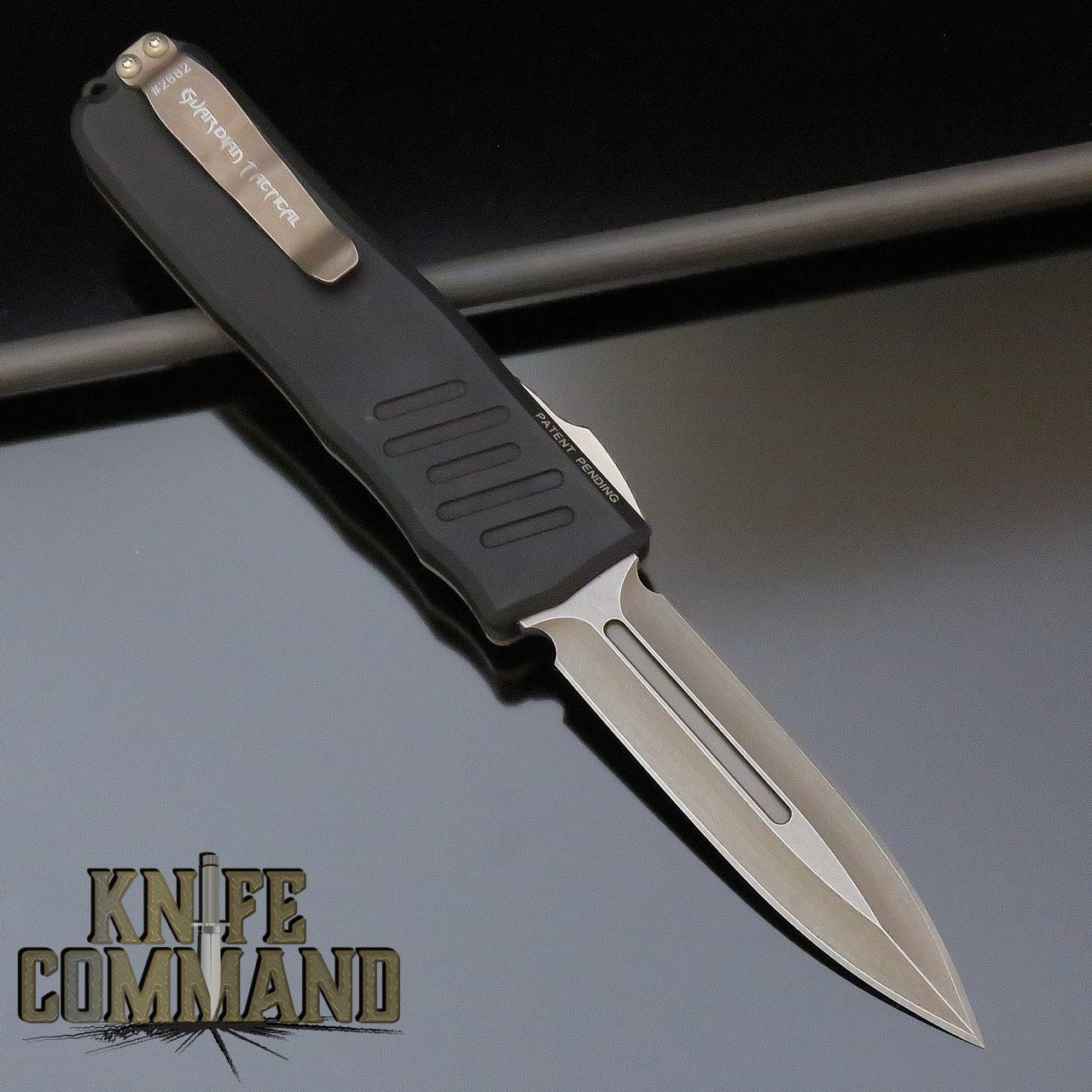 Guardian Tactical Limited Edition Recon-035 Double Edge Bronzed Elmax Brass Top OTF Automatic Knife 96931