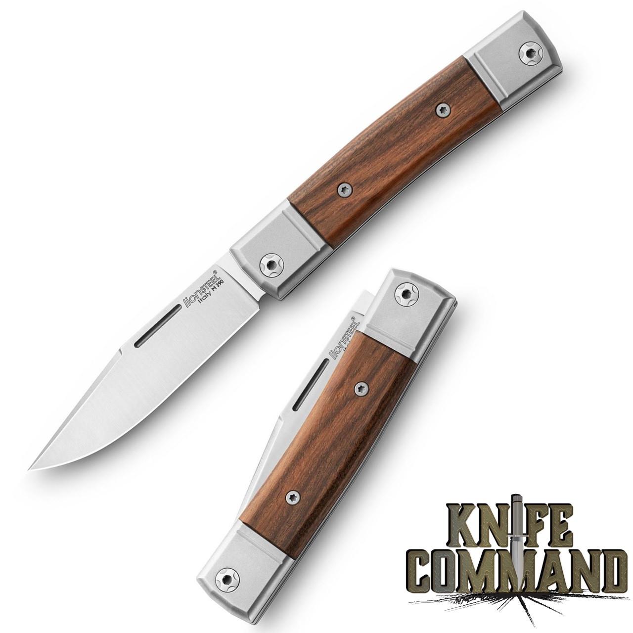 LionSteel Knives Best Man Traditional Santos Wood Single-blade Slip-joint Folding knife BM1-CST