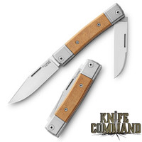 LionSteel Knives Best Man Traditional Natural Canvas Micarta Two-blade Slip-joint Folding knife BM13-CVN