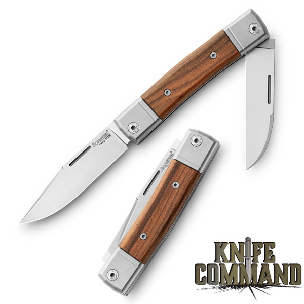 LionSteel Knives Best Man Traditional Santos Wood Two-blade Slip-joint Folding knife BM13-CST