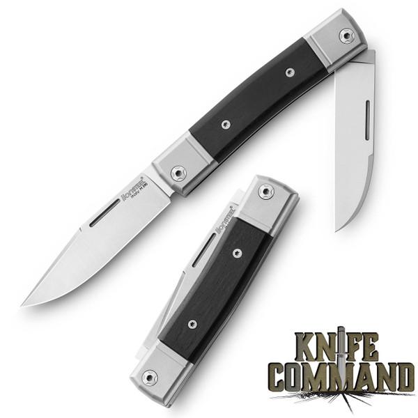 LionSteel Knives Best Man Traditional Ebony Wood Two-blade Slip-joint Folding knife BM13-EB