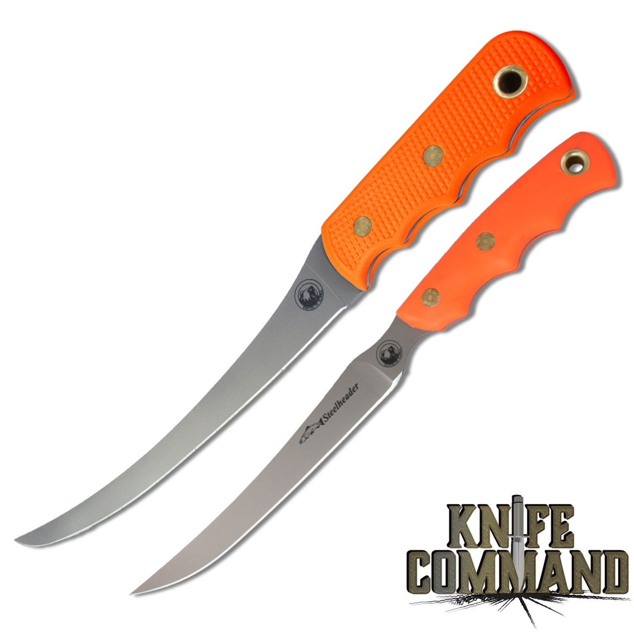 Knives of Alaska Fisherman's Combo 00093FG Blaze Orange Coho and Steelheader Set