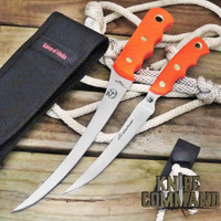 Knives of Alaska Fisherman's Combo 00093FG Blaze Orange Coho and Steelheader Set
