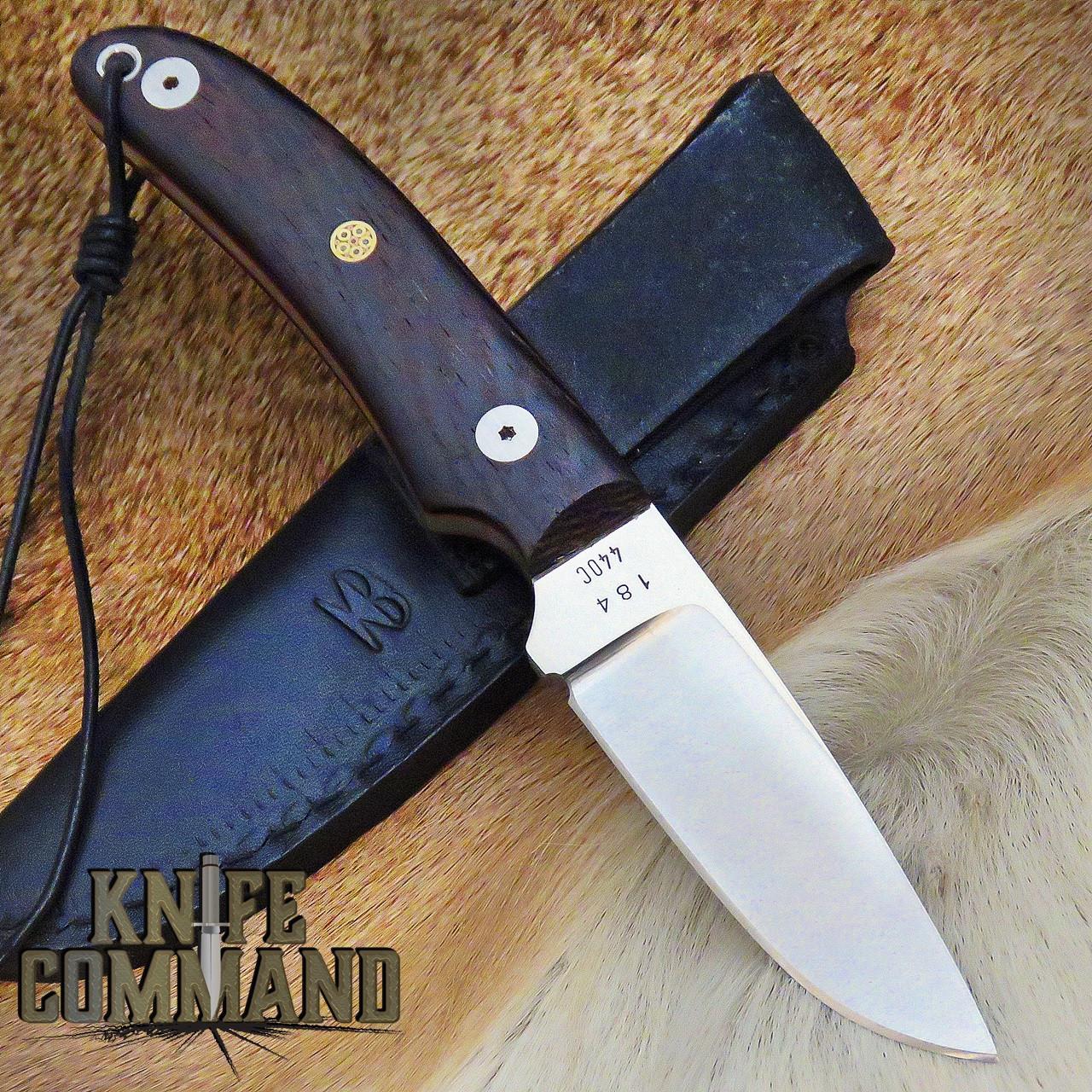 Klotzli Knives Rare Model 14 Wenge Wood Fixed Blade Knife