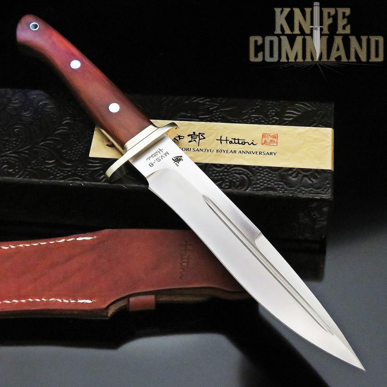 Hattori Knives Ichiro Hattori SAN-1 80 year Limited Edition Fighter Knife  7\