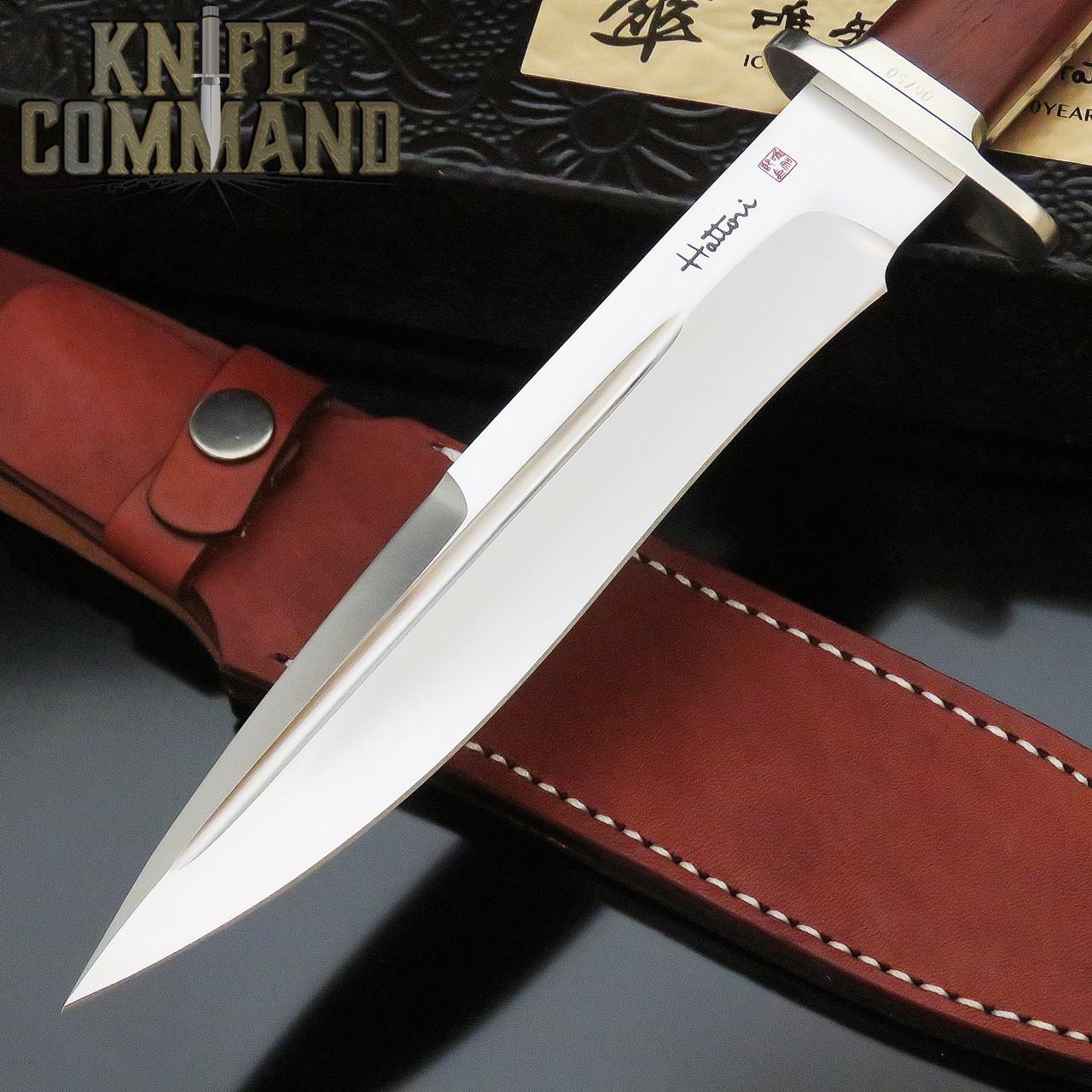 "Hattori Knives Ichiro Hattori SAN-1 80 year Limited Edition Fighter Knife 7"" Blade"