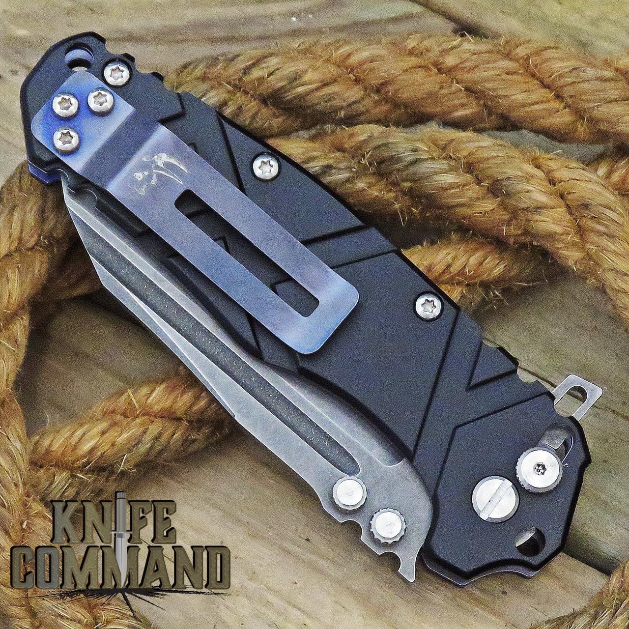 Wander Tactical Mistral Gen 3 Extreme Duty Folding Knife Black Aluminum