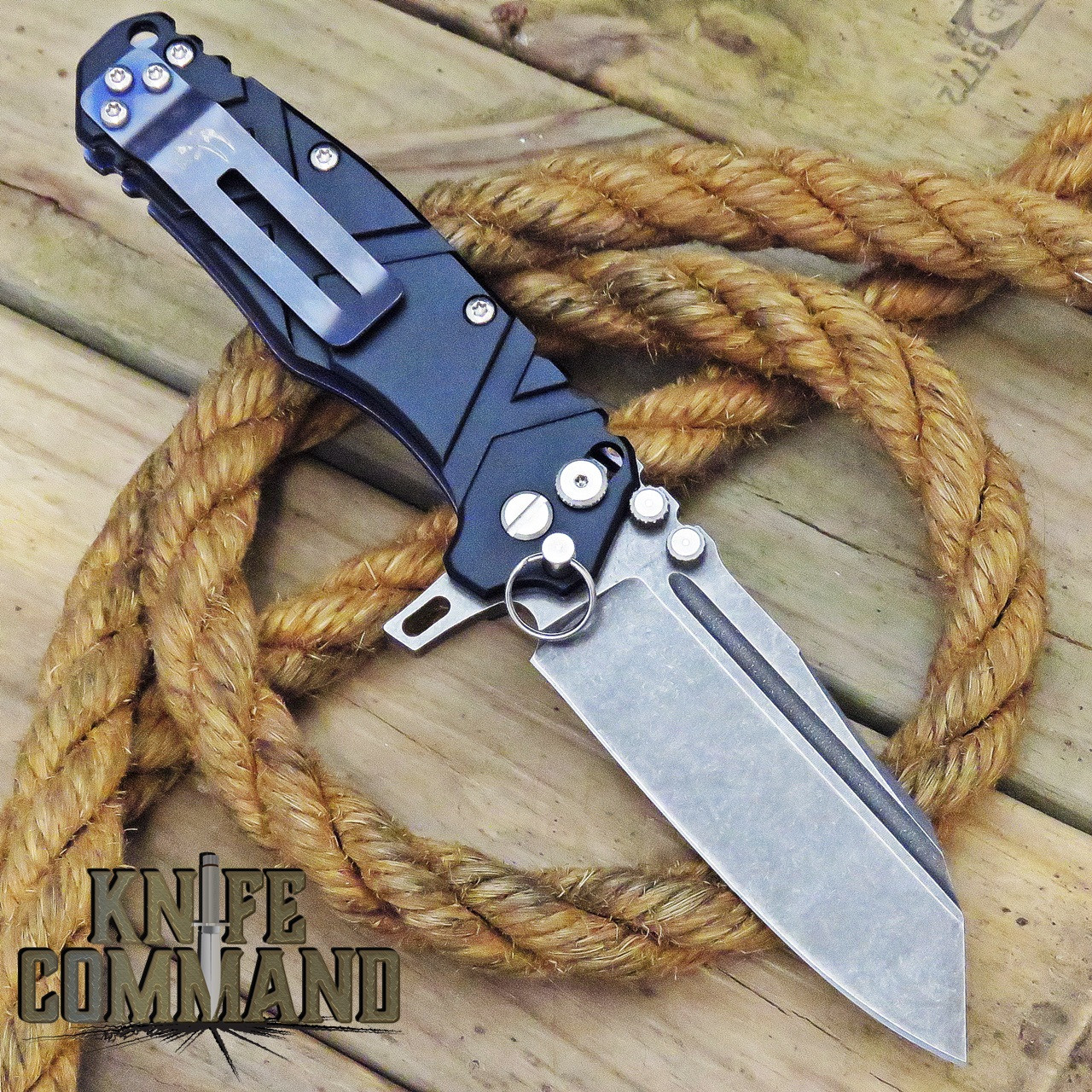 Wander Tactical Mistral Gen 3 Extreme Duty Folding Knife Black Aluminum