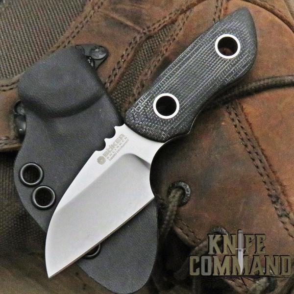 BOKER SOLINGEN VOXNAES PRY MINI MICARTA FIXED BLADE KNIFE 121615