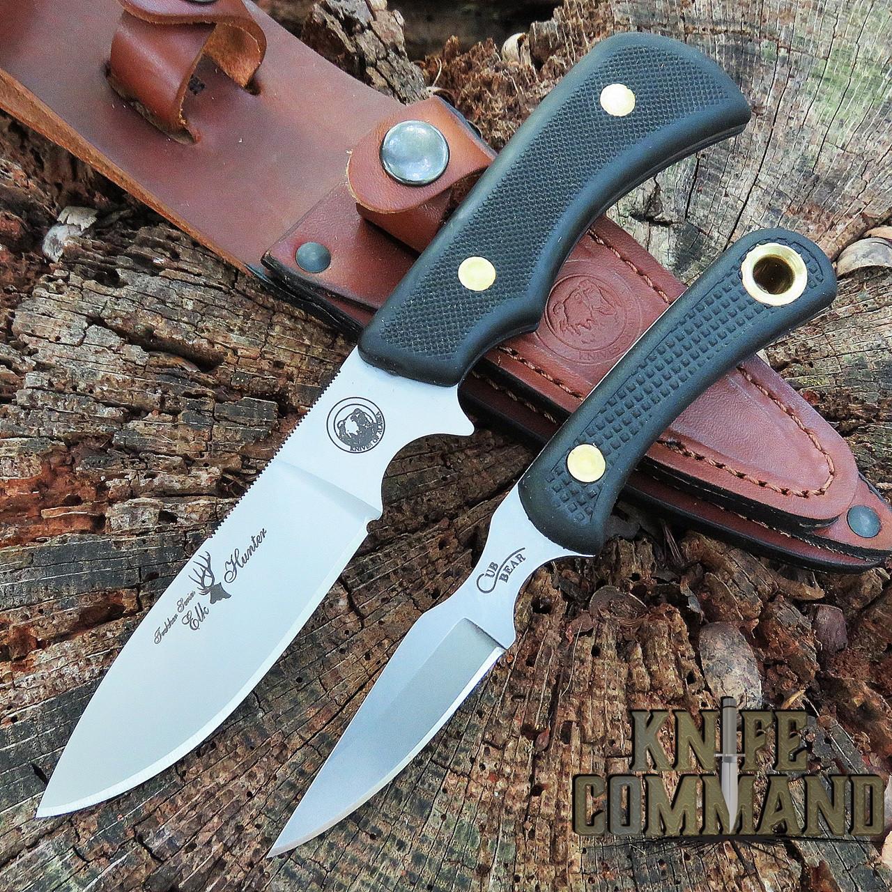 Knives of Alaska Trekker Elk Hunter Suregrip Hunting Knife Combo 00198FG