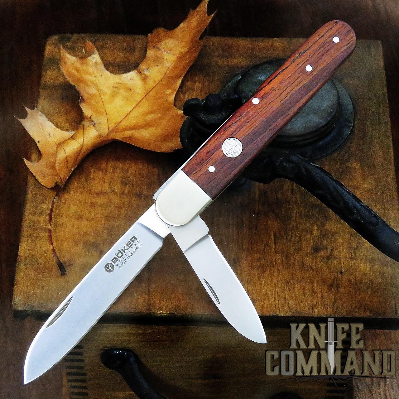 Boker Knives Enigma Model 110031 Cocobolo Pen Blade Release Lockback Pocket Knife