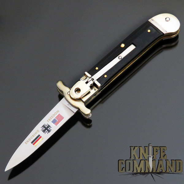 Hubertus Solingen Guardian Enduring Freedom Limited Edition Springer Automatic Knife with Swing Guard