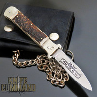 Hubertus Solingen Limited Edition Johnny Cade Shell-puller Stag Springer Automatic Knife