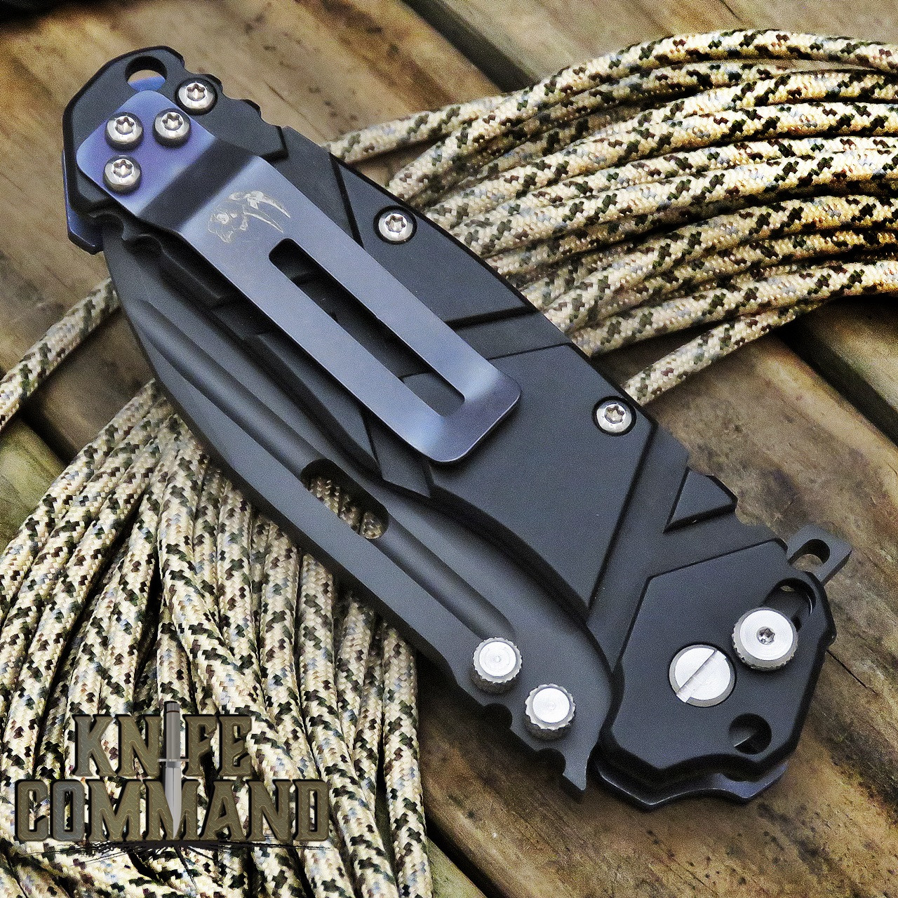 Wander Tactical Hurricane Gen 3 Extreme Duty Folding Knife Black Black Aluminum