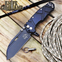 Wander Tactical Hurricane Gen 3 Extreme Duty Folding Knife Black Black Aluminum