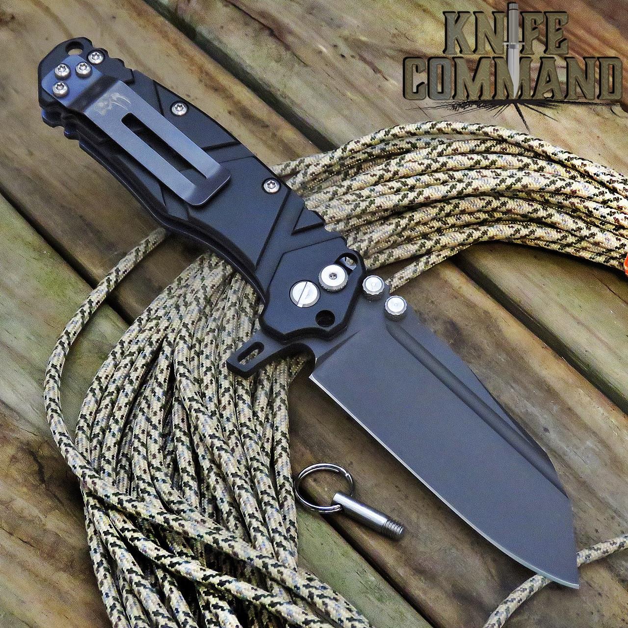 Wander Tactical Mistral Gen 3 Extreme Duty Folding Knife Black Black Aluminum