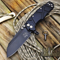 Wander Tactical Mistral Gen 3 Extreme Duty Folding Knife Black Black Aluminum