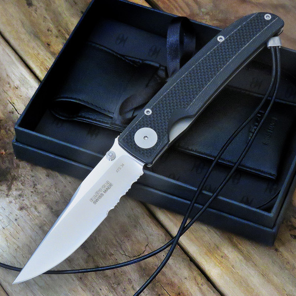 Klotzli Knives Michael Walker 03 Tactical Folding Knife Black WALK-03-TAC-CS