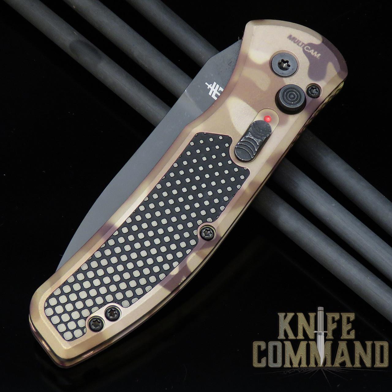 Gerber Empower MultiCam® Arid™Automatic Knife, Black Serrated CPM-S30V, 30-001621