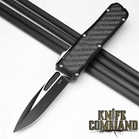 Guardian Tactical Recon-035 OTF Carbon Fiber Elmax Automatic Knife Two-Tone Tactical 92211