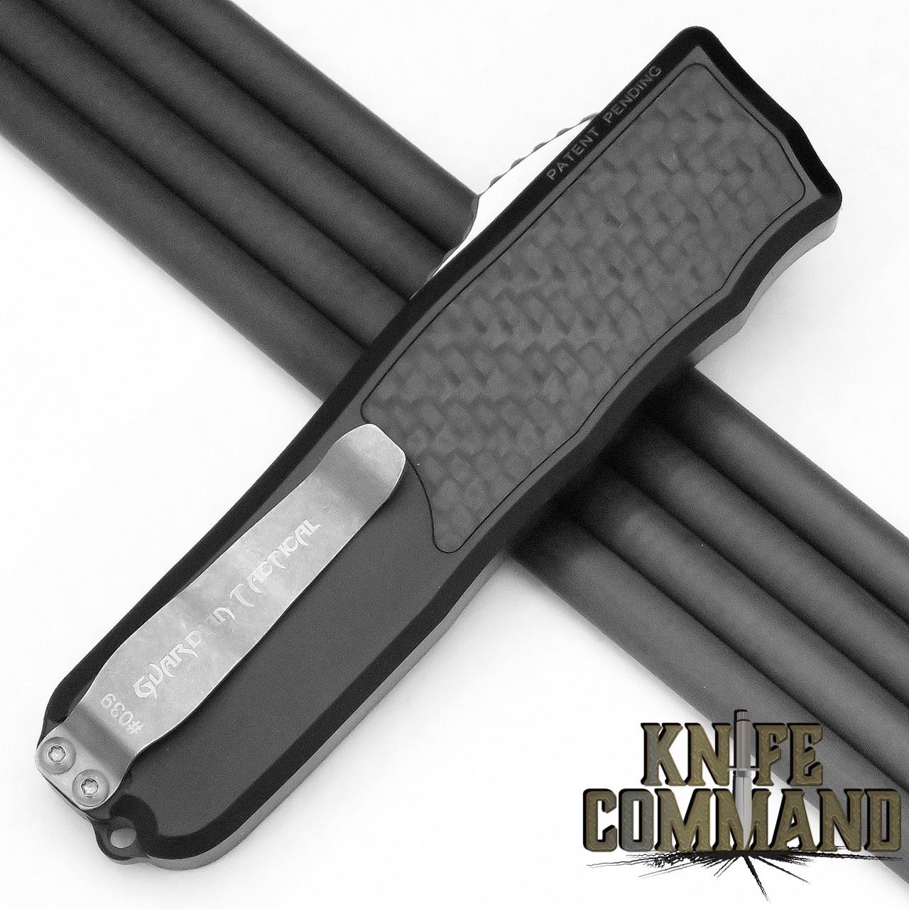Guardian Tactical Recon-035 OTF Carbon Fiber Elmax Automatic Knife Two-Tone Tactical 92211