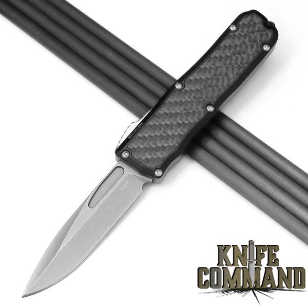 Guardian Tactical Recon-035 OTF Carbon Fiber Stonewash Elmax Automatic Knife Tactical 92511
