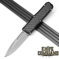 Guardian Tactical Recon-035 OTF Carbon Fiber Stonewash Elmax Automatic Knife Tactical 92511