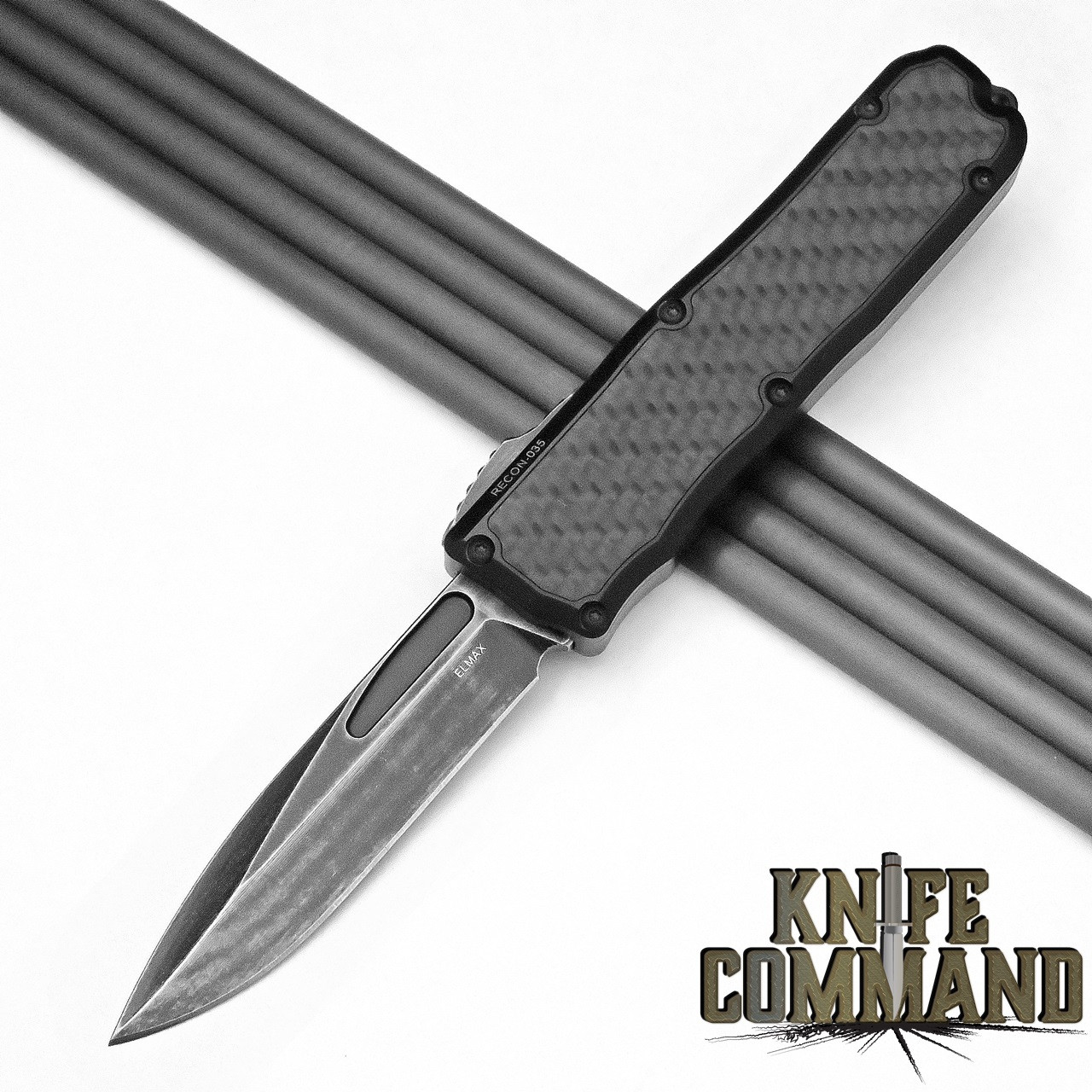 Guardian Tactical Recon-035 OTF Carbon Fiber Dark Stonewash Elmax Automatic Knife Tactical 92611