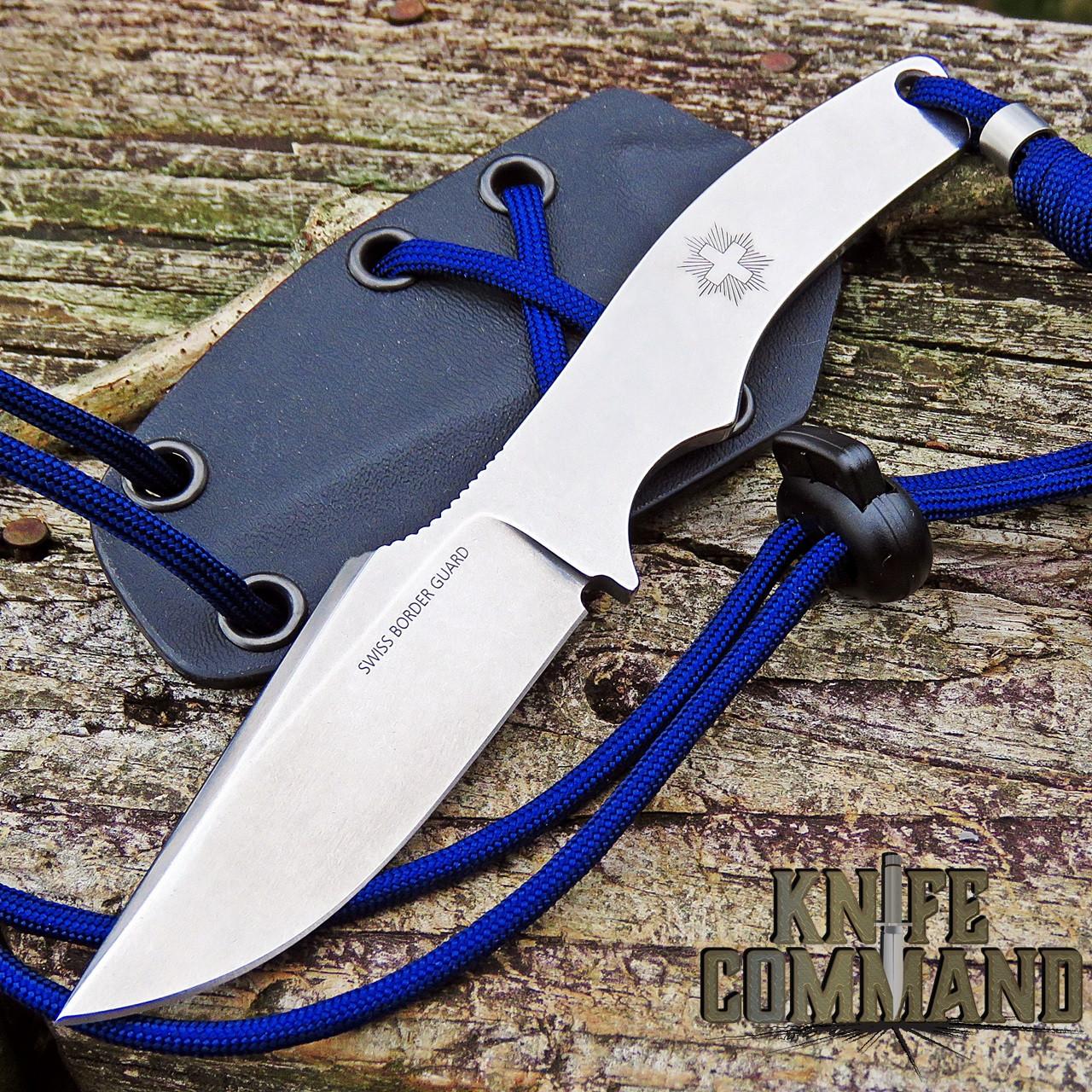 Klotzli Knives Official Swiss Border Guard Fixed Blade Neck Knife Model 23