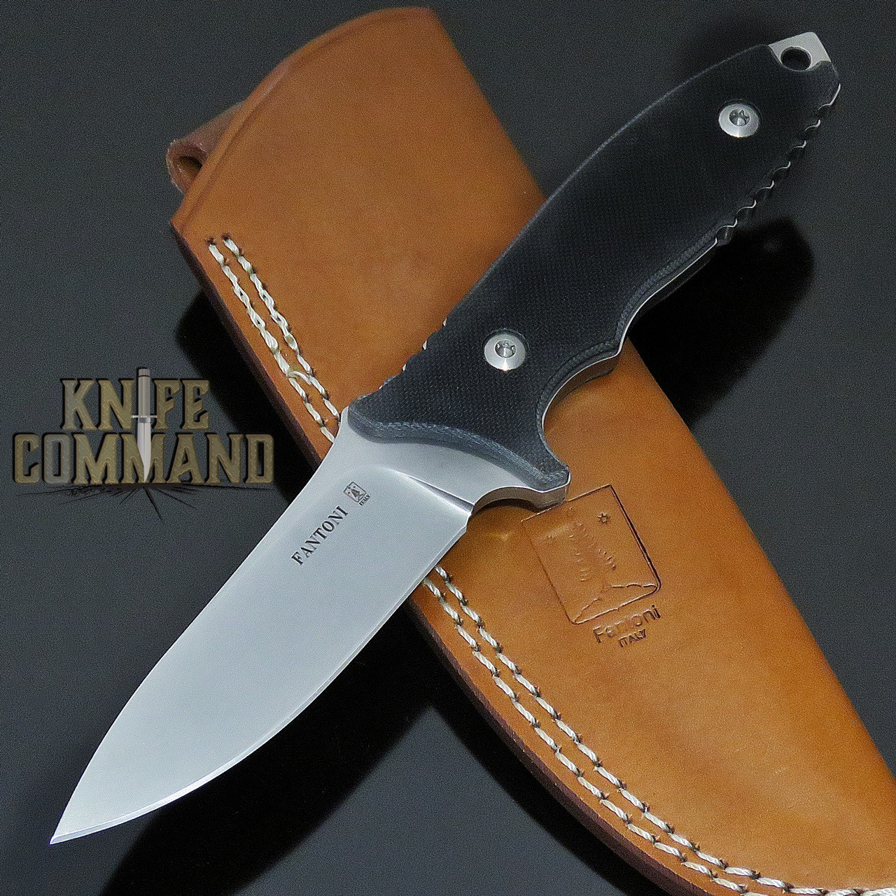 Fantoni HB Fixed Blade William Harsey Combat Tactical Knife S35VN Brown Leather