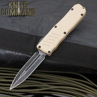 Guardian Tactical Recon-035 OTF Automatic Knife Desert Tan Double Edge Black Stonewash 97631