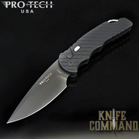 "Pro-Tech Knives Tactical Response 4 TR-4.F3 Feather Automatic Knife Police Law Enforcement Folder 4"" Black DLC Blade"
