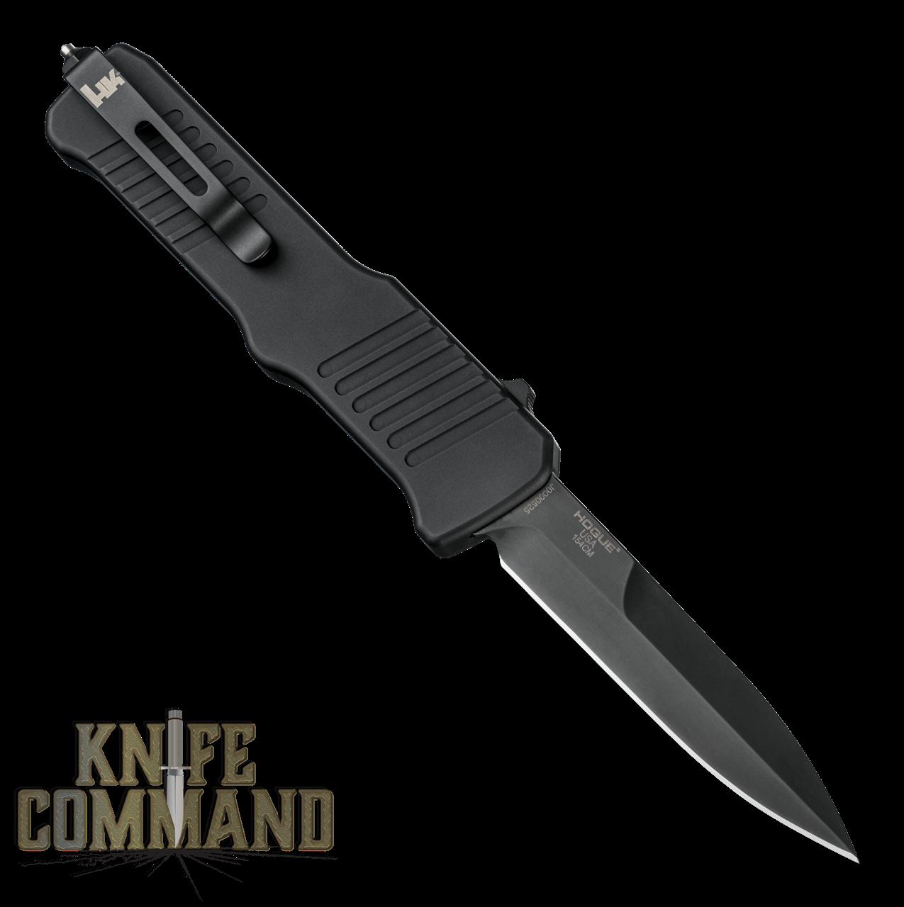"HK Incursion OTF Automatic: 3.9"" Bayonet Blade - Black PVD Finish, Matte Black Aluminum Frame 54096"